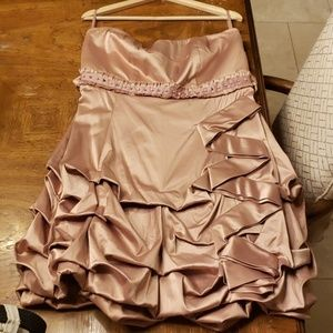 Blush Pickup Dress with Pearls